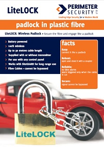 LiteLOCK Wireless Fibre Optic Padlock